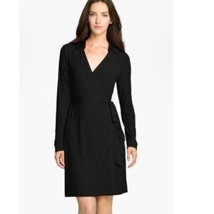 NWOT Calvin Klein Long Sleeved Black Wrap Dress